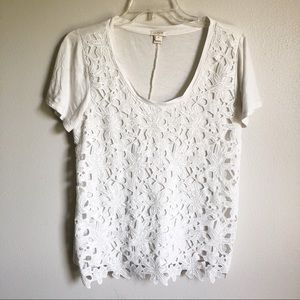 J. Crew | lace front tee